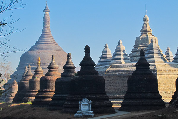 Stupas of a Buddhist Temple